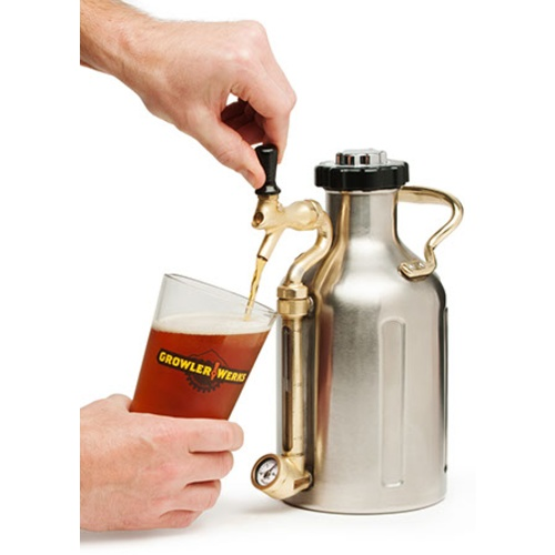 GrowlerWerks Pressurized SS Growler - 64 oz