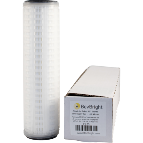 BevBright™ .45 Micron Absolute Sterile Beverage Filter Cartridge