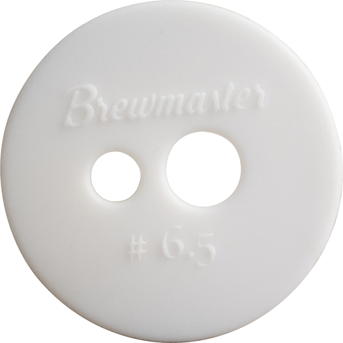 Two Hole #6.5 Brewmaster Silicone Stopper
