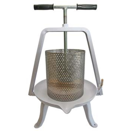 Fruit Press #20 - Stainless Steel Basket and Enamel Base